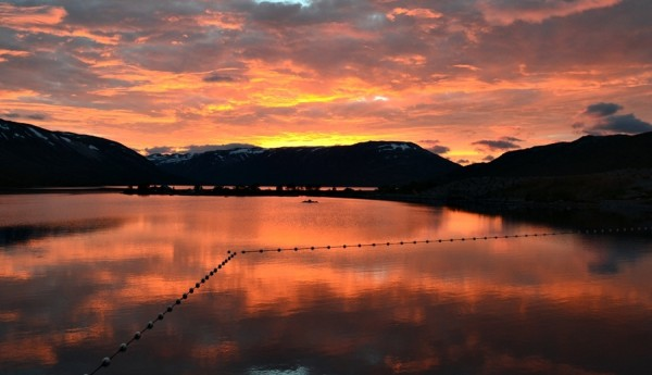 breidalsvatnet i solnedgang 01.09.15