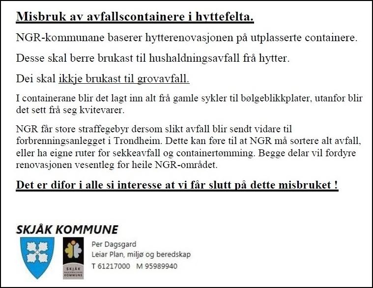 skriv frå skjåk kommune