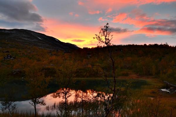 solnedgang i Grotli hyttegrend 22.09.15